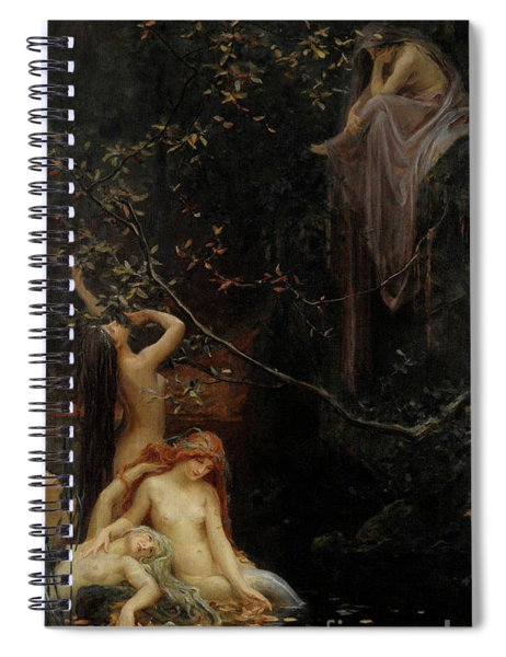 Fairies By The Brook, 1895 Spiral Notebook