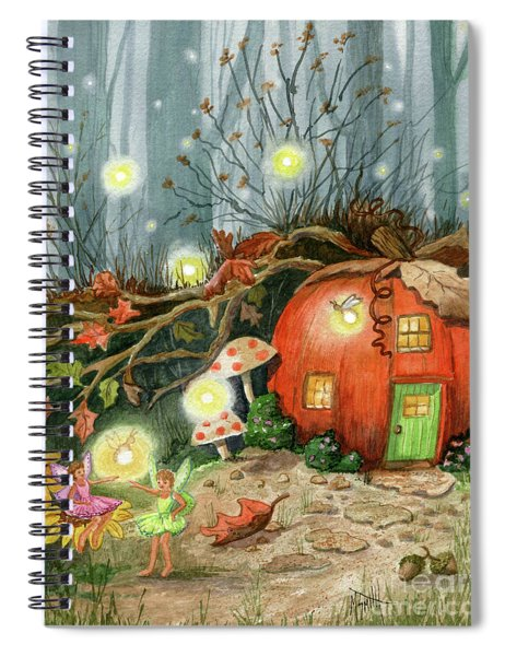Fairy And Firefly Fantasy Spiral Notebook