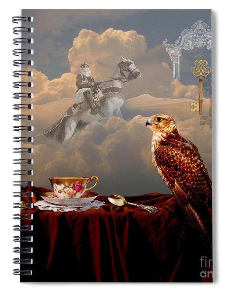 Falcon With Gold Key Spiral Notebook