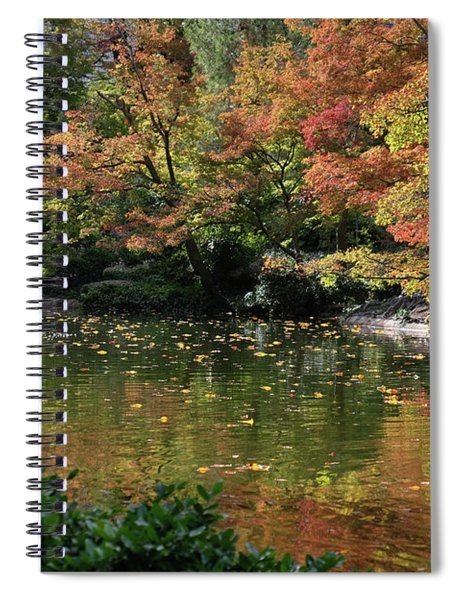 Fall At The Japanese Garden Spiral Notebook
