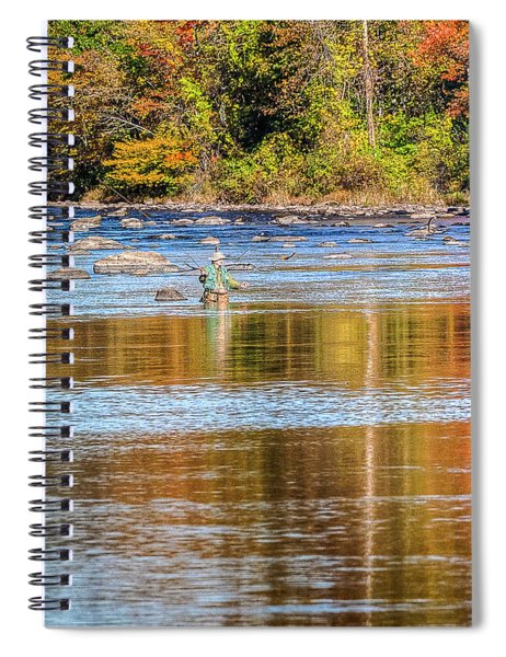 Fall Fishing Reflections Spiral Notebook