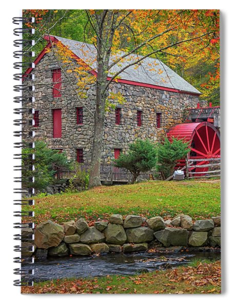 Fall Foliage At The Grist Mill Spiral Notebook