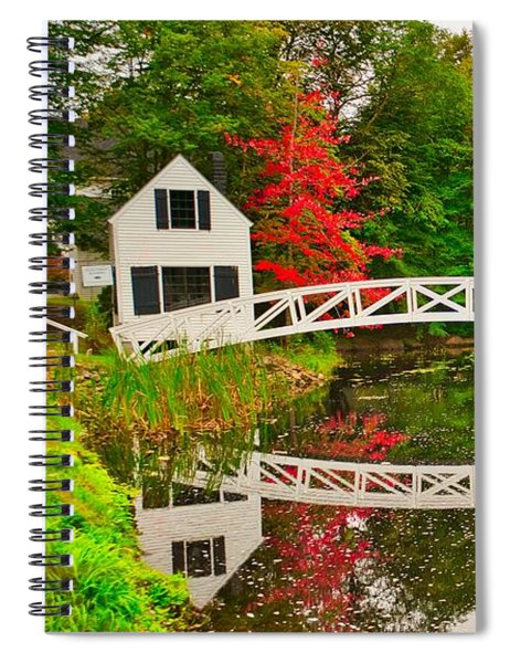Fall Footbridge Reflection Spiral Notebook