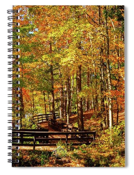 Fall Hike At Mirror Lake Spiral Notebook