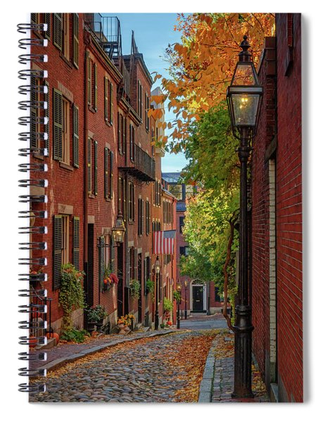 Fall In Beacon Hill Spiral Notebook