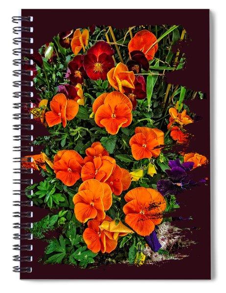 Fall Pansies Spiral Notebook