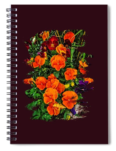 Fall Pansies Spiral Notebook