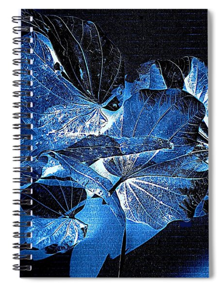 Fallen Leaves At Midnight Spiral Notebook