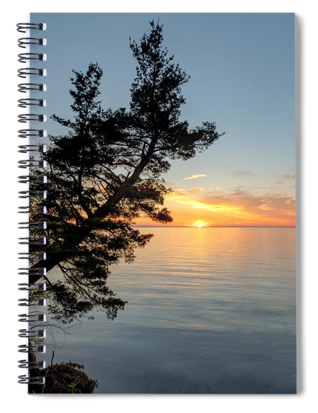Spiral Notebook featuring the photograph Fallen Tree II by Rod Best