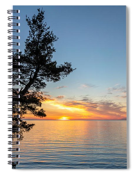 Spiral Notebook featuring the photograph Fallen Tree by Rod Best