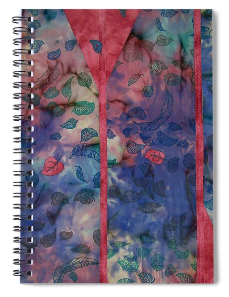 Falling  Floating Spiral Notebook