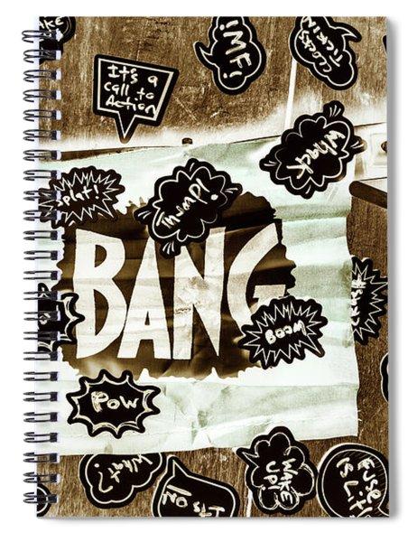 False Flag Spiral Notebook