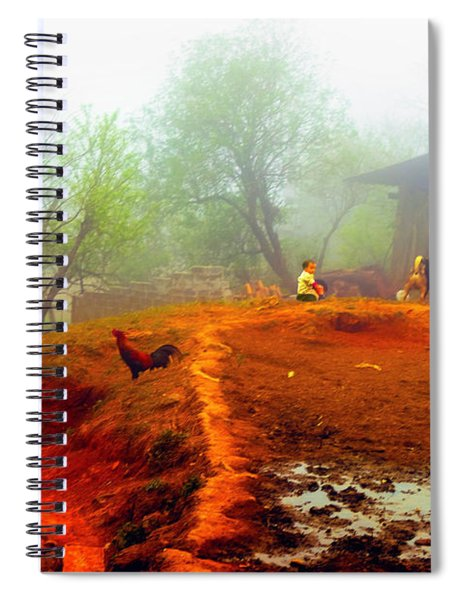Family On A Hill In Sapa, Vietnam Spiral Notebook