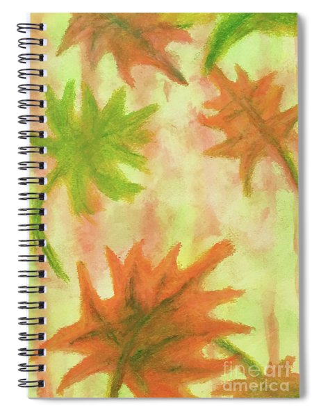 Fanciful Fall Leaves Spiral Notebook