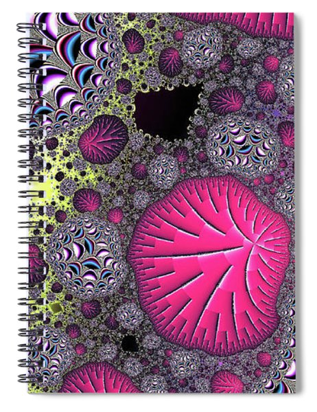 Fantasy World Red Modern Art Spiral Notebook