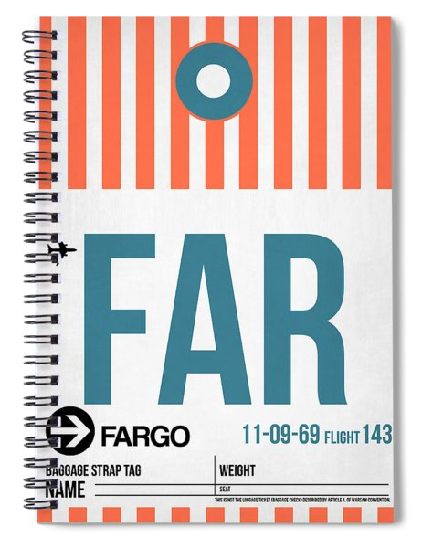 Far Fargo Luggage Tag II Spiral Notebook