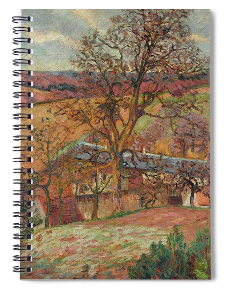 Farm And Trees In Saint-cheron Spiral Notebook