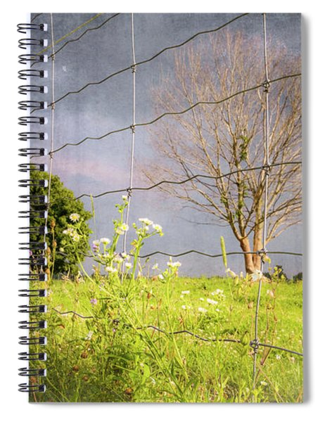 Farm Scene - A New Perspecitve Spiral Notebook by Garvin Hunter