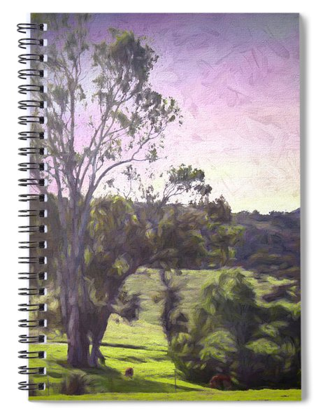 Spiral Notebook featuring the photograph Farm Scene by Alison Frank