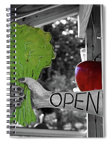 Farm Stand Open Partial Color Spiral Notebook