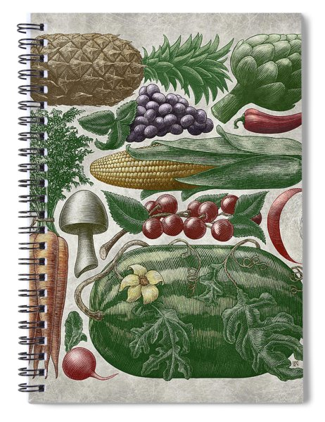 Farmer's Market - Color Spiral Notebook