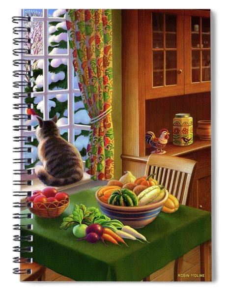 Farmhouse Cat  Spiral Notebook