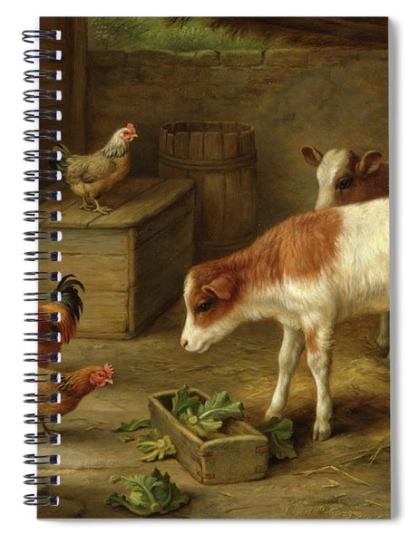 Farmyard Scene Spiral Notebook