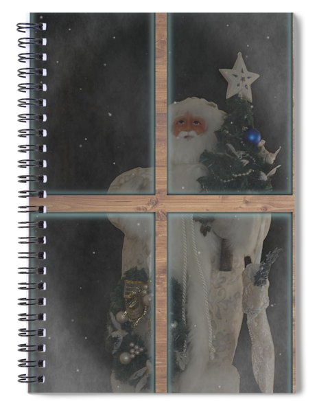 Father Christmas In Window Spiral Notebook
