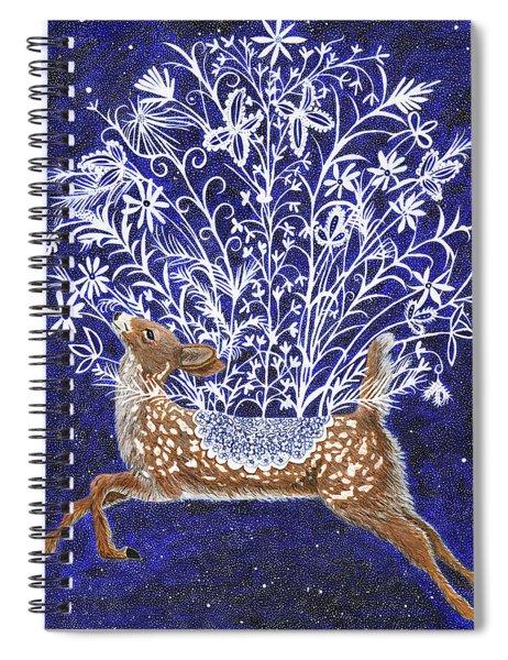 Fawn Bouquet Spiral Notebook