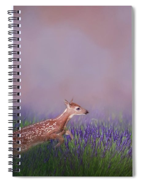 Fawn Frolic Square Spiral Notebook
