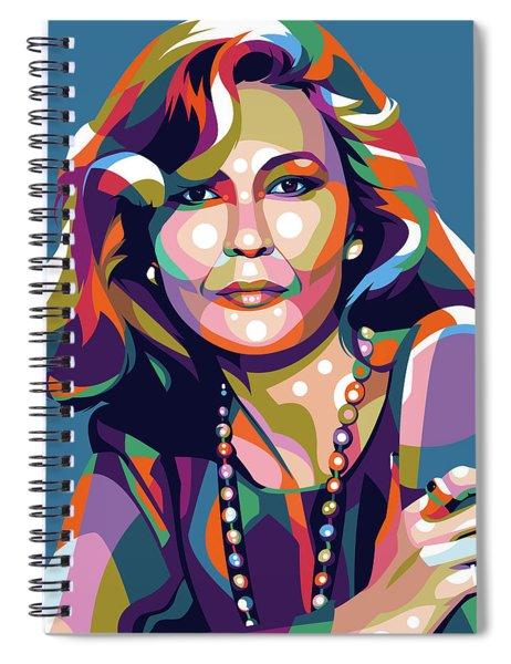 Faye Dunaway Spiral Notebook