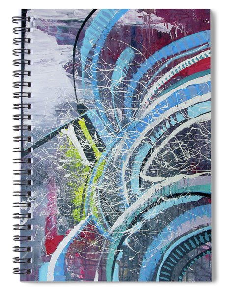 Feathers Of The Curve Spiral Notebook