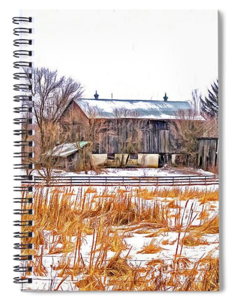 February Farm - Paint Spiral Notebook