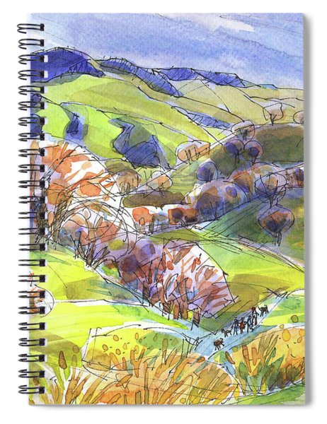 February Landscape With Mount Diablo Spiral Notebook