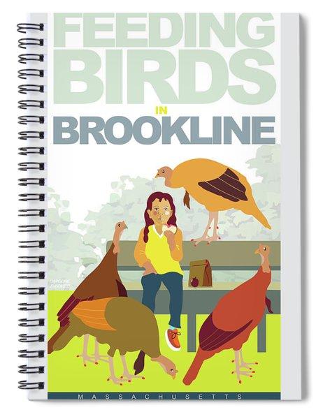 Feeding The Birds Spiral Notebook