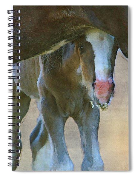 Feeling Secure In Digital Watercolor Spiral Notebook