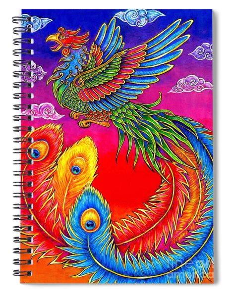 Fenghuang Chinese Phoenix Spiral Notebook