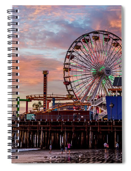 Ferris Wheel On The Pier - Square Spiral Notebook