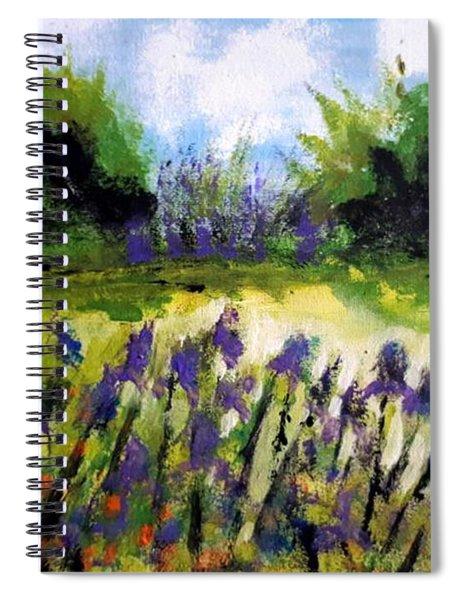 Field Of Irises Spiral Notebook
