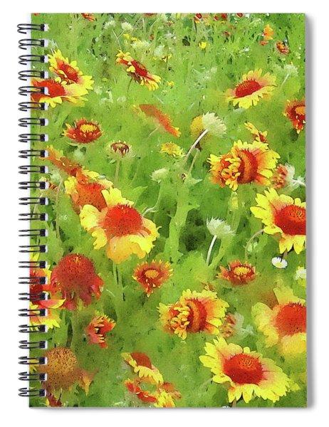 Fields Of Gold - Wildflowers Spiral Notebook