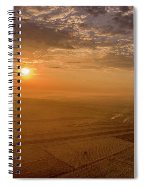 Fields On The Sunset Spiral Notebook