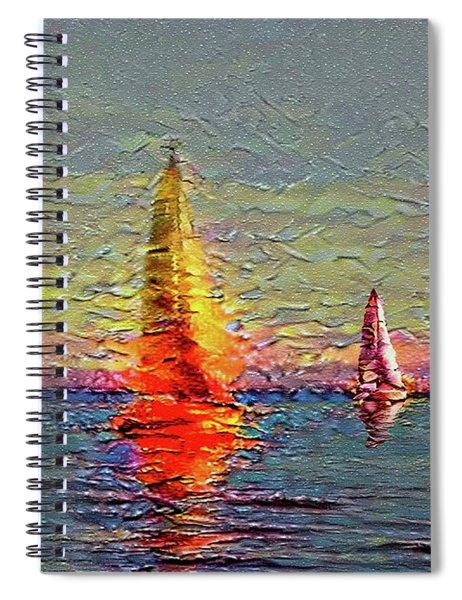 Fiery Kiss Spiral Notebook