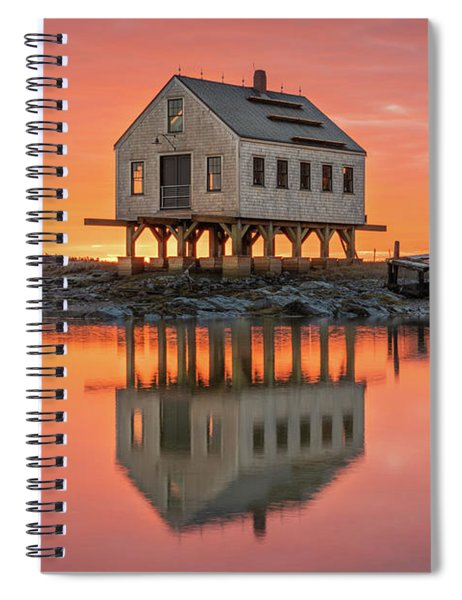 Fiery Skies At Cape Porpoise Spiral Notebook
