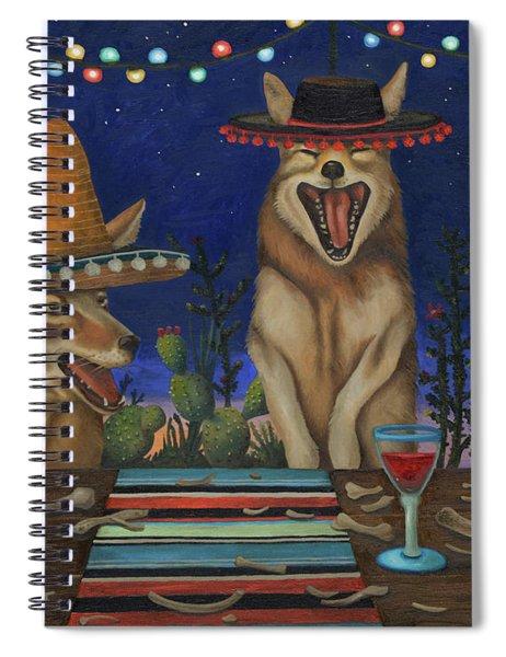Fiesta De Los Coyote's Spiral Notebook