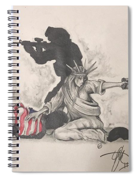 Fighting For Liberty  Spiral Notebook