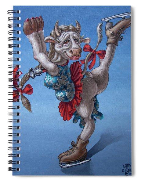 Figure Skater Spiral Notebook