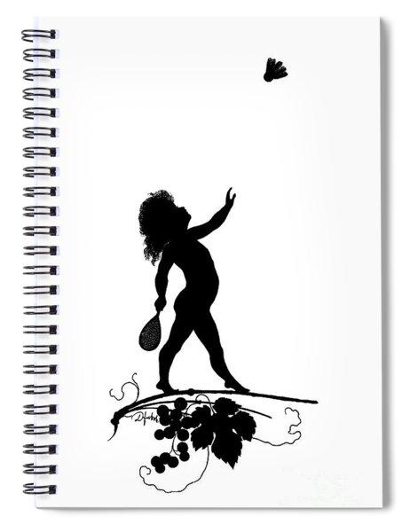 Figure With Shuttlecock Spiral Notebook