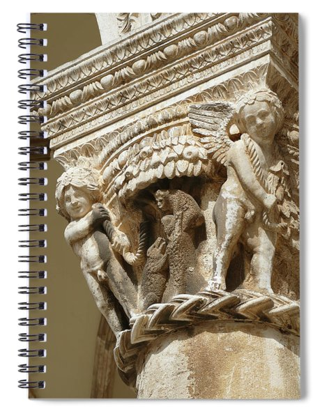 Figures On Capitals Of The Rector's Palace Spiral Notebook