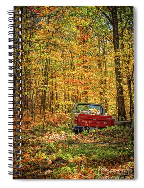 Final Resting Place - Old Ford In The Forest Spiral Notebook