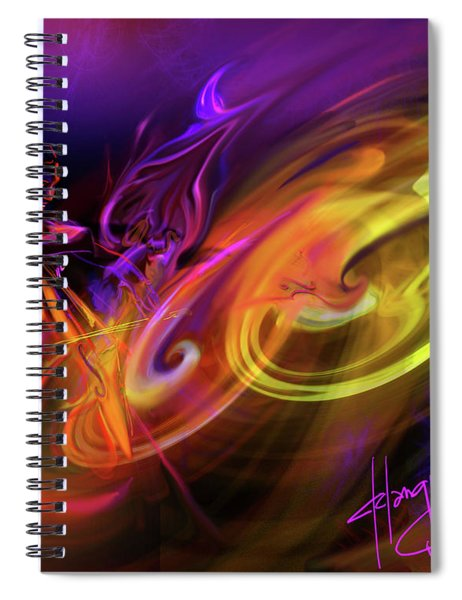 Cellist In Space Spiral Notebook